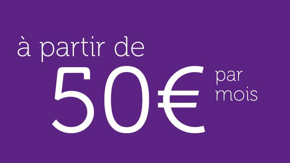 L'investissement périodique est possible à partir de 50€