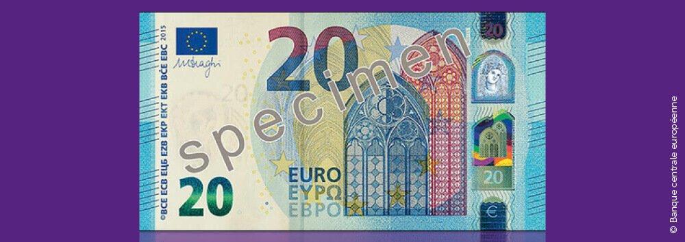 Een nieuw, hyperbeveiligd biljet van 20 euro