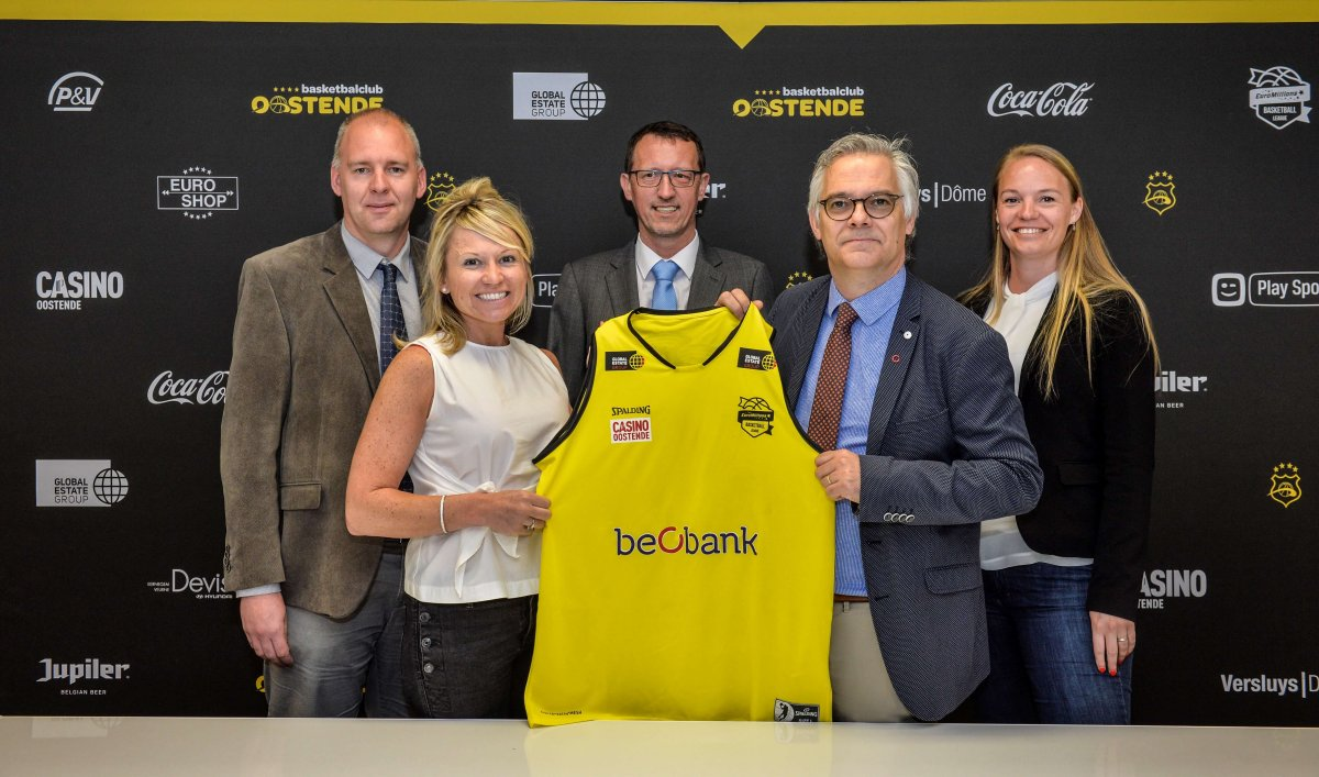 Beobank, sponsor van BCO Oostende