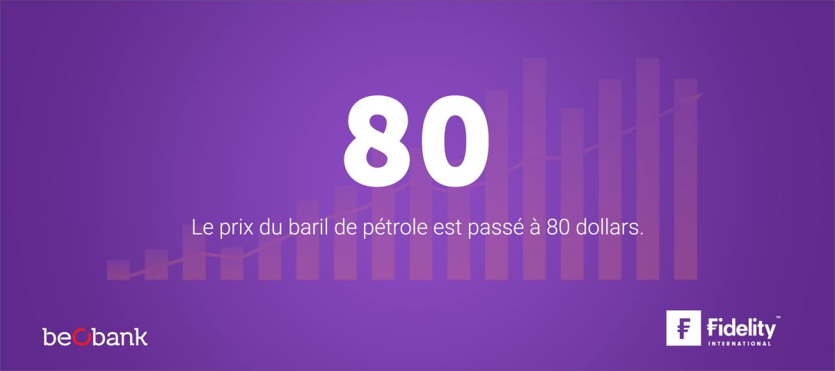 Le prix du pétrole le plus élevé depuis 2014.