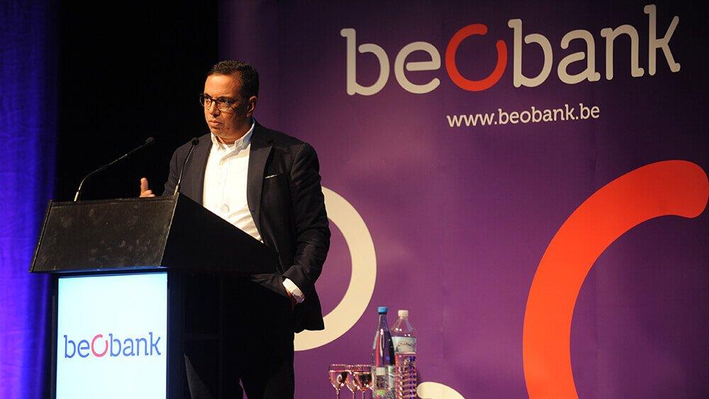Amid Faljaoui à la conférence investissements de Beobank